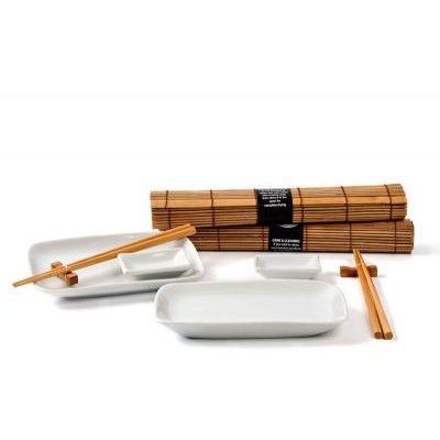 Japansk Spisesæt i Keramik - Natur - til 2 personer